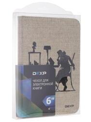 """6"""" Чехол-книжка Dexp DEV003FW бежевый"""