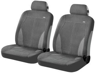 Чехол на сиденье H&R FOX FRONT передний, вельвет, т.серый/св.серый
