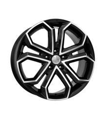 Автомобильный диск  K&K Пандора 8,5x19 5/130 ET 45 DIA 71,6 Алмаз черный