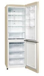 Холодильник с морозильником LG GA-B389SEQZ бежевый