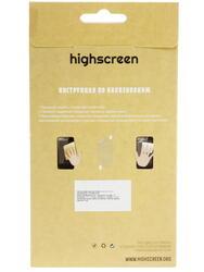"4""  Пленка защитная для смартфона Highscreen Zera F"