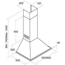 Вытяжка каминная Cata VN 600 Inox серебристый