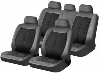 Чехол на сиденье H&R MATADOR-ALKANTARA алькантара/иск.кожа, черный/серый