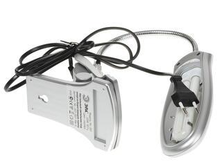 Настольный светильник ЭРА NL-207 серебристый