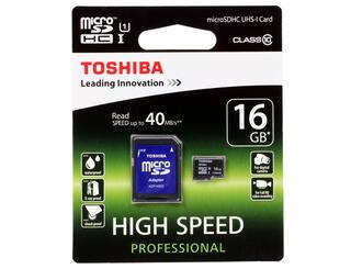 Карта памяти Toshiba SD-C016UHS1(6A microSDHC 16 Гб