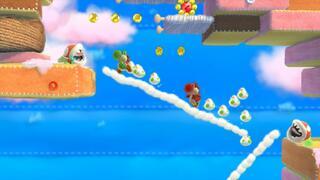 Игра для Wii U Yoshi's Woolly World + Фигурка Amiibo - Зеленый Вязаный Йоши