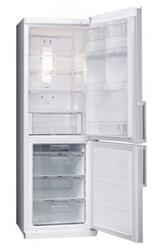Холодильник с морозильником LG GA-B379ULQA серебристый