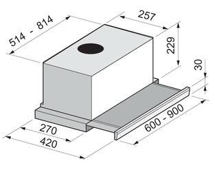 Вытяжка полновстраиваемая Korting KHP 6711X серебристый