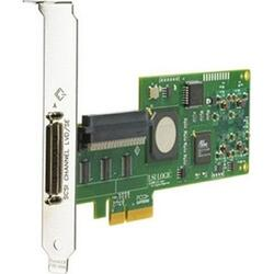 412911-B21 Single Channel Ultra320 SCSI Adapter (PCI-E x4, 1int, 1ext - All Srv/Wrst), incl. h/h & f/h. brckts