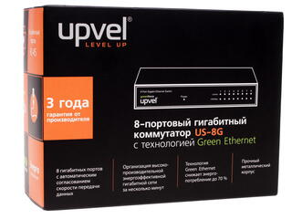 Коммутатор UPVEL US-8G