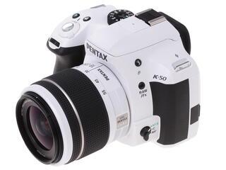 Зеркальная камера Pentax K-50 kit DA L 18-55mm WR белый