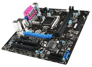 Плата MSI LGA1150 H87M-P32 H87 2xDDR3-1600 PCI-Ex16 DSub 8ch 4xSATA3 RAID 2xUSB3 GLAN COM mATX