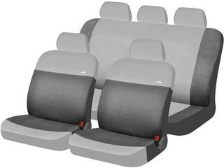 Чехол на сиденье H&R RONDO эластик, св.серый/т.серый
