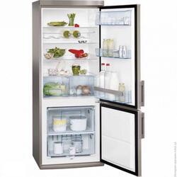 Холодильник с морозильником AEG S52900CSS0 серебристый