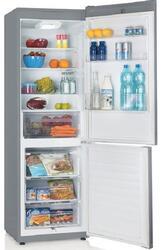 Холодильник с морозильником Candy CKBS 6180 S серебристый