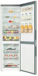 Холодильник с морозильником Haier C2FE636CXJ серебристый