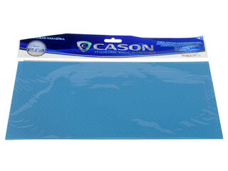 Виниловая наклейка голубой карбон