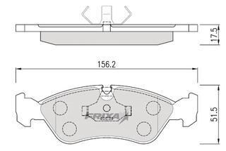 Тормозные колодки Hankook Frixa FPD05