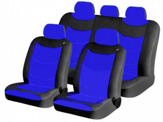 Чехол на сиденье H&R FUSION Lada, кракле, синий /черный