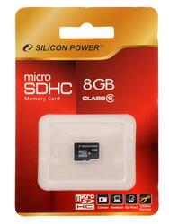 Карта памяти Silicon Power microSDHC 8 Гб