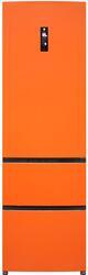 Холодильник с морозильником Haier A2FE635COJ оранжевый