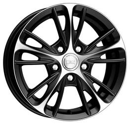 Автомобильный диск Литой K&K Мулен Руж 6,5x16 4/98 ET 30 DIA 67,1 Алмаз черный