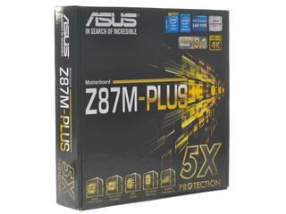 Плата Asus Z87M-PLUS Socket-1150 Intel Z87 DDR3 mATX AC`97 8ch(7.1) GbLAN SATA6 RAID VGA+DVI+HDMI