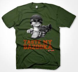 Футболка WORMS - Taste My Bazooka зеленый