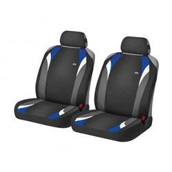 Накидка на сиденье H&R FORMULA FRONT черный/голубой