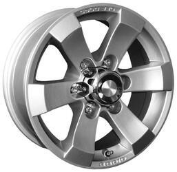 Автомобильный диск Литой K&K Путоран 7x16 6/139,7 ET 15 DIA 107,6 Сильвер