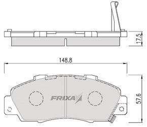Тормозные колодки Hankook Frixa FPD15