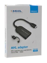 Кабель Deppa 72125 micro USB - HDMI черный