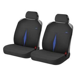 Накидка на сиденье H&R KARAT FRONT голубой/черный
