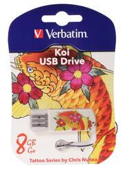 Память USB Flash Verbatim Tattoo Edition «Карп Кои» 8 Гб
