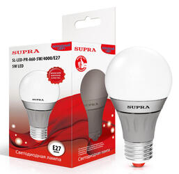 Лампа светодиодная Supra SL-LED-PR-A60-10W/4000/E27