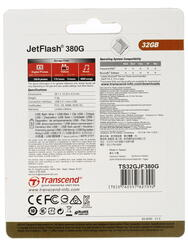 Память OTG USB Flash Transcend JETFLASH 380g  32 ГБ