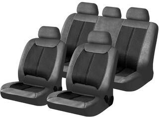 Чехол на сиденье H&R MATADOR иск.кожа, черный/серый