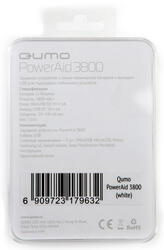 Портативный аккумулятор Qumo PowerAid 3800 белый