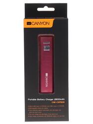 Портативный аккумулятор CANYON CNE-CSPB26R красный