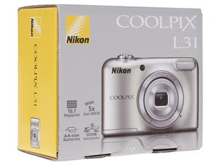 Компактная камера Nikon Coolpix L31 серебристый