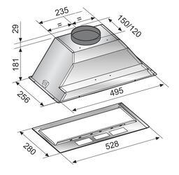Вытяжка полновстраиваемая Korting KHI 6410 X серебристый