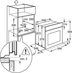 Электрический духовой шкаф Electrolux EOB 5351 AOX