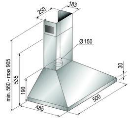 Вытяжка каминная Korting KHC 5430 X серебристый