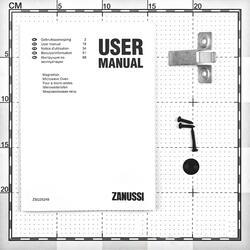 Встраиваемая микроволновая печь Zanussi ZSG25249XA серебристый
