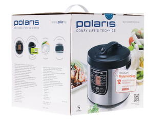 Мультиварка Polaris PМС 0511AD серебристый