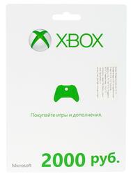 Карта оплаты подписки Xbox LIVE 2000