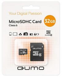 Память QUMO (microSDHC) 32GB Сlass 6