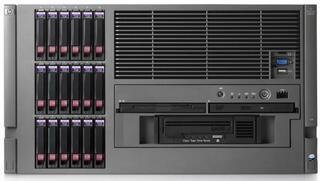 430056-421 Proliant ML570R04 X3.4-16M DualCore SAS Rack 6U (2xXeon 7140M 16MB/4x1Gb/2x1000NIC/RAID(P400wBBWC512)/noSFFHdd(18)/DVD-CDRW,noFDD/2xRPS/2xFan/iLO2std)