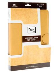 """Чехол-книжка для планшета универсальный 10.1""""  бежевый"""