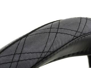 Оплетка на руль AUTOLAND PRESIDENT ALCANTARA EDITION 1506022-235 BK/GY черный
